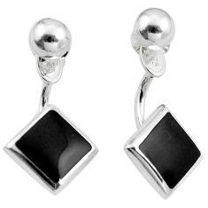 Black onyx enamel 925 sterling silver dangle earrings jewelry a86285