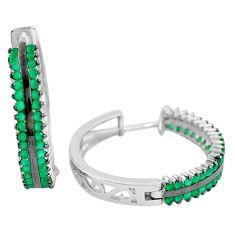 Green chalcedony onyx 925 sterling silver dangle earrings jewelry a86739
