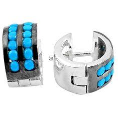 Blue sleeping beauty turquoise 925 sterling silver stud earrings a86813