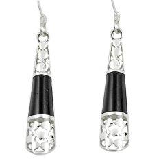 4.92cts black onyx 925 sterling silver dangle earrings jewelry a88287
