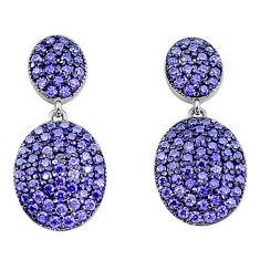 3.83cts purple amethyst quartz 925 sterling silver dangle earrings a96515