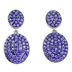 3.79cts purple amethyst quartz 925 sterling silver dangle earrings a96525