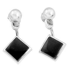 4.69gms black onyx enamel 925 sterling silver dangle earrings jewelry a96832