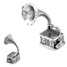 10.02gms gramophone vinyl phonograph 925 silver miniature collectible a82252