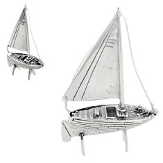 13.48gms ship boat bali style solid 925 silver miniature collectible a82262