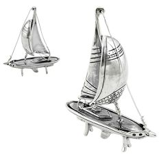 17.69gms ship boat bali style solid 925 silver miniature collectible a82265