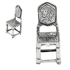 5.24gms victorian style chair gift 925 silver miniature collectible a82285