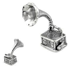 10.48gms gramophone bali style solid 925 silver miniature collectible a82315