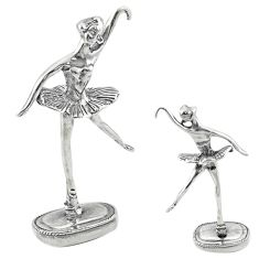 18.02gms dancing girl bali style solid 925 silver miniature collectible a82317