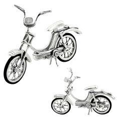 30.67gms bike motorbike enamel 925 silver miniature collectible a82319