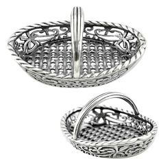 17.02gms basket doll house style solid 925 silver miniature collectible a82320