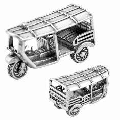 18.69gms bali tuk tuk auto solid 925 silver miniature collectible a82339