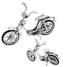 31.25gms vintage bike enamel 925 silver miniature collectible a82343