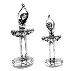17.47gms dancing ballet style solid 925 silver miniature collectible a82349