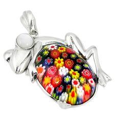 925 sterling silver multi color italian murano glass pearl owl pendant a43268