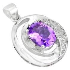 Clearance Sale-925 sterling silver natural purple amethyst topaz pendant jewelry a52637
