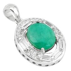 Clearance Sale-Natural green emerald topaz 925 sterling silver pendant jewelry a52914