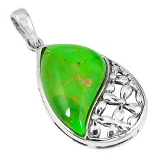 Clearance Sale-Southwestern green copper turquoise 925 silver pendant jewelry a54330