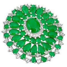 Clearance Sale-Green emerald quartz topaz 925 sterling silver pendant jewelry a55812