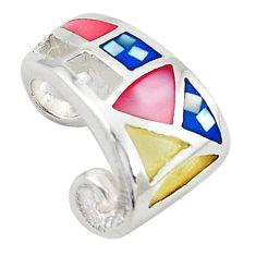 Multi color blister pearl enamel 925 sterling silver pendant jewelry a69699