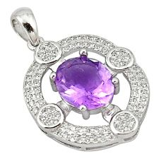 Natural purple amethyst topaz 925 sterling silver pendant jewelry a72801