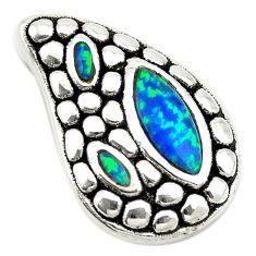 Green australian opal (lab) 925 sterling silver pendant jewelry a74047