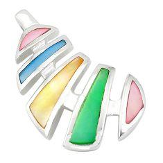 925 sterling silver multi color blister pearl enamel pendant jewelry a77520