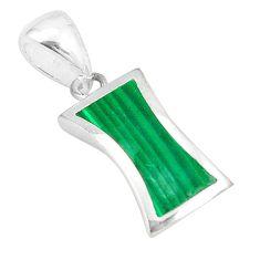 925 sterling silver green malachite (pilot's stone) enamel pendant a77540