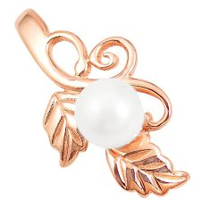 925 sterling silver natural white pearl 14k rose gold pendant jewelry a80204