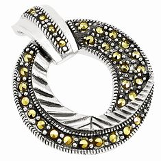 Circle of life marcasite 925 sterling silver pendant jewelry a80367