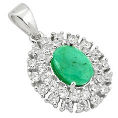 6.03cts natural green emerald topaz 925 sterling silver pendant jewelry a81522