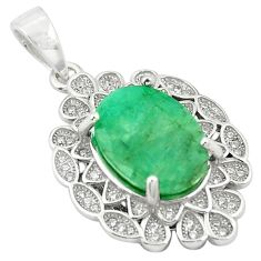 8.48cts natural green emerald topaz 925 sterling silver pendant jewelry a81523