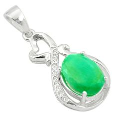 5.80cts natural green emerald topaz 925 sterling silver pendant jewelry a81536