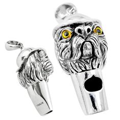 Whistle edwardian style dog 925 sterling silver pendant jewelry a82013