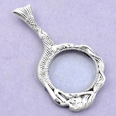 Edwardian magnifying glass 925 sterling silver pendant jewelry a82078