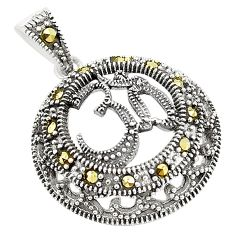 Swiss marcasite 925 sterling silver pendant jewelry a83901