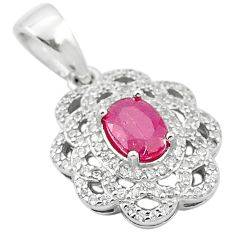 4.54cts natural red ruby topaz 925 sterling silver pendant jewelry a84156