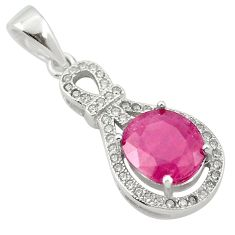 Natural red ruby topaz 925 sterling silver pendant jewelry a84173