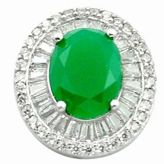 925 sterling silver natural green chalcedony white topaz pendant a84495