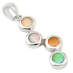 Multi color blister pearl enamel 925 sterling silver pendant jewelry a85410
