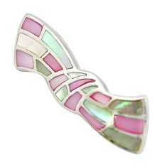 Multi color blister pearl enamel 925 sterling silver pendant jewelry a85445