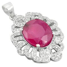 Natural red ruby topaz 925 sterling silver pendant jewelry a85678
