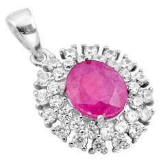 6.70cts natural red ruby topaz 925 sterling silver pendant jewelry a86063
