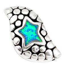 2.23cts green australian opal (lab) 925 sterling silver pendant jewelry a92738