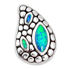 925 sterling silver 2.72cts green australian opal (lab) pendant jewelry a92740