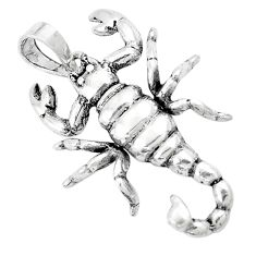 5.48gms indonesian bali style solid 925 sterling silver scorpion pendant a94684