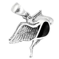 2.69gms black onyx enamel 925 sterling silver pendant jewelry a94723