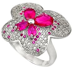 Designer sparkle red ruby topaz 925 sterling silver ring jewelry size 7 a31694