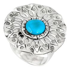Natural blue magnesite 925 sterling silver ring jewelry size 6.5 a40441