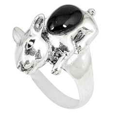 2.46cts natural black onyx 925 sterling silver ring jewelry size 8 a45934